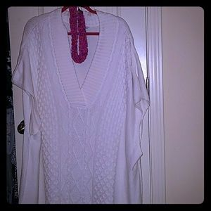 Creamy White Short Sleeve Sweater
